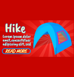hike concept banner comics isometric style vector image
