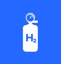 Hydrogen tank cylinder icon vector