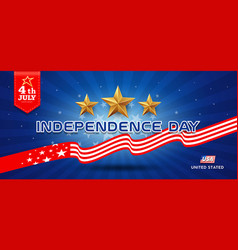 independence day flag united states banners vector image