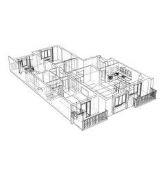 interior sketch vector image