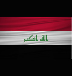 iraq flag flag of iraq blowig in the wind eps 10 vector image