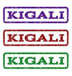 kigali watermark stamp vector image