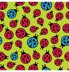Ladybugs seamless background vector image