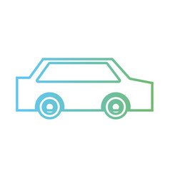line normal car to transportation and modern style vector image