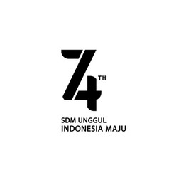 Logo 74th indonesia independence day white vector