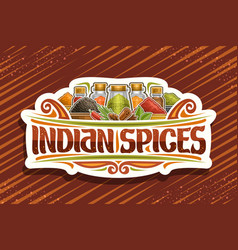 logo for indian spices vector image
