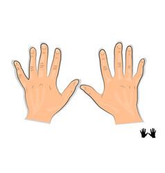 men s hands vector image