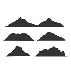 mountains black silhouettes for outdoor design vector image