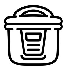 Multicooker icon outline style vector