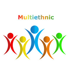 Multiethnic people design eps10 vector