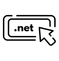 Net domain icon outline style vector