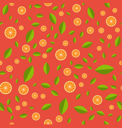 orange pattern seamless pattern with orange and vector image