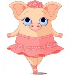 pig ballerina vector image