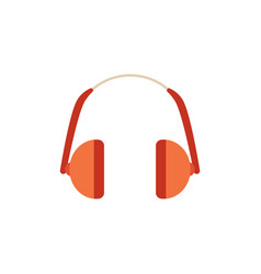 Protective headphones for noisy work icon vector