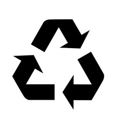 Recycle icon in trendy flat style isolated on vector