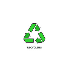 Recycling concept icon in line design flat vector