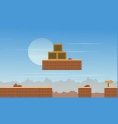 Scenery desert background for game vector