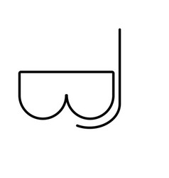 sea glasses icon vector image