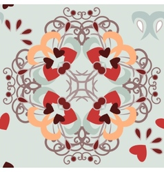 seamless background hearts pattern vector image
