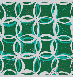 Seamless pattern design with sketchy circles vector