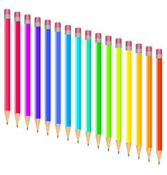 Set multi-colored pens vector