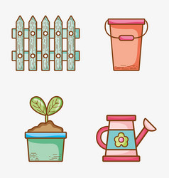 Set of garden elements vector