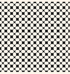 Simple black and white geometric seamless pattern vector
