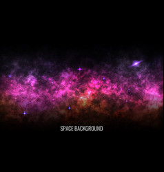 Space background color milky way bright nebula vector