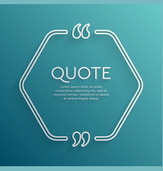 Template blank hex creative white quote vector