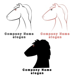 three characters in form a horse vector image