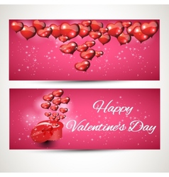 vertical and horizontal Flyers gift box set 2 vector image