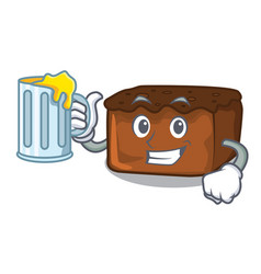 With juice brownies mascot cartoon style vector