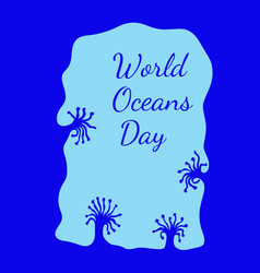 world oceans day view from an underwater cave vector image