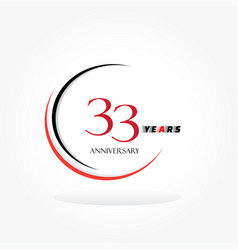 Years anniversary linked logotype with red color vector