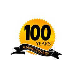 100 years ribbon anniversary vector image