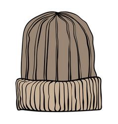 a winter knitted hat vector image
