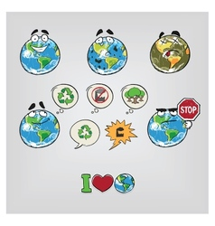 Cartoon Earth vector image