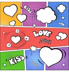 Valentines day and wedding background flat vector image vector image