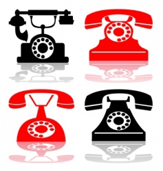 antique telephone collection vector image