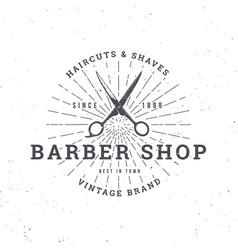 barber shop scissors vector image