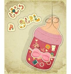 Birthday Card for Girl vector image
