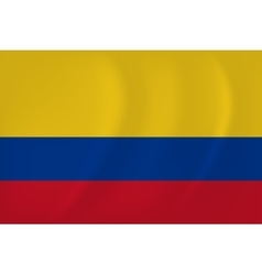 Colombia waving flag vector image