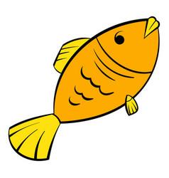 dry fish icon icon cartoon vector image