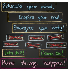 Educate your mind inspire your soul vector image vector image