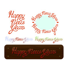 happy new year brush handdrawn lettering text on vector image vector image