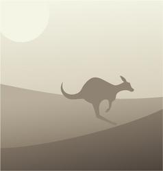 Kangaroo scene vector image