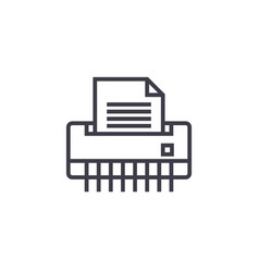 paper shredderoffice printer line icon vector image