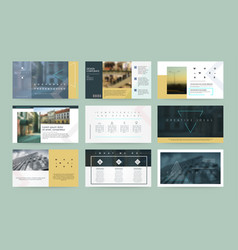 presentation templates business template for vector image vector image
