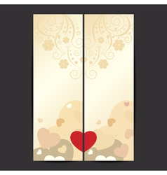 Set of Valentines Day banner vector image vector image