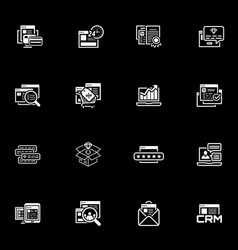 shopping and marketing icons set vector image vector image